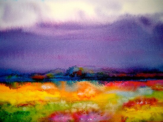 Landscape Abstract...Summer Rain by ©Janis Zroback