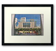 Reflections in Singapore Framed Print