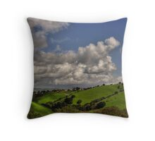 small village in the hills  Throw Pillow