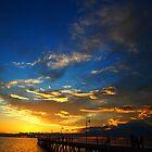 The Blue Sunset - Glenelg, Adelaide by rebecca brace