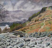 Ashness Bridge, Borrowdale, Lake Derwent, Cumbria by Timothy Smith