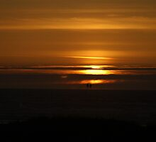 Sunset At Ocean Shores, Washington by Loisb