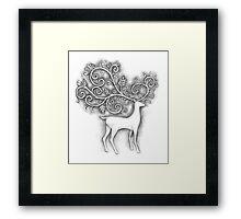 Decorative deer Framed Print
