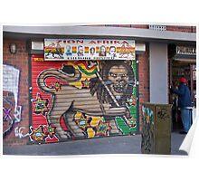 Painted Roller Shutter Door Poster