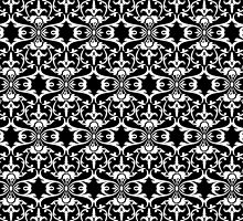Antique Pattern White on Black by Aimee-Ellen