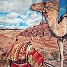 Camels at Petra by Valentina Henao