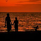 Silhouette of young couple with child by Ms.Serena Boedewig