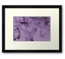 Smoldering Smoke Muted Pastel 003 Framed Print