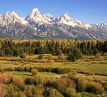 Tetons Across the Prairie by NEBPHOTO