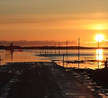 The Causeway of Lindisfarne - Northumberland by Kat Simmons