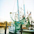 Shrimp Boat at the Harbor by Jonicool