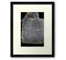 Recipe Collection - Era Gone By Framed Print