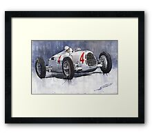 Auto Union C Type 1937 Monaco GP Hans Stuck Framed Print