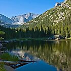 Mills Lake at Sunrise Rocky Mountain National Park by Luann wilslef