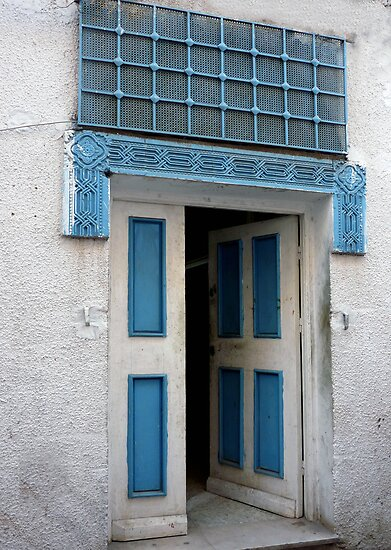 Door in the Souks of Tunis by Lucinda Walter