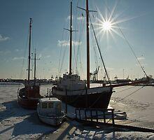 Frozen Harbor (2) by Christian Hartmann