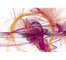 Abstract in Purple, Pink and Yellow Photographic Print