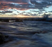 Stuck in the Middle - Garie Beach, NSW by Malcolm Katon