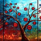 The Red &amp; Blue Fruit by Abstract D&#x27;Oyley