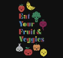 Eat Your Fruit & Veggies lll dark Kids Clothes