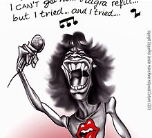 Mick Jagger Turns 60 by Londons Times Cartoons by Rick  London