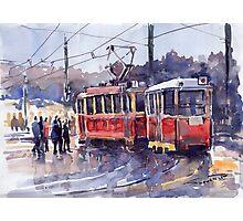 Prague Old Tram 01 Photographic Print