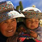 WOMAN AND CHILD FROM COLCA II by Christine Kradolfer