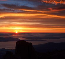 Sunrise from Mount Wellington #3 by Chris Cobern