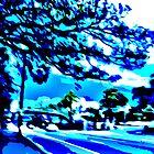 West on Parramatta Rd (a storm approaches) by Tim Hilton