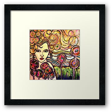 "Rainbow Girl by Belinda ""BillyLee"" NYE (Printmaker)"