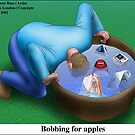 Bobbing 4 Apples by Londons Times Cartoons by Rick  London