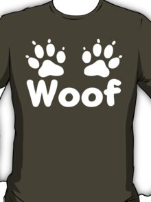 Woof Dog Paws (Dark) T-Shirt