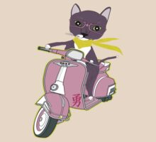 Cat on Vespa - featuring Soxy the cat T-Shirt