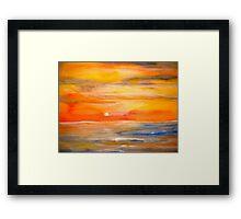 Landscape Abstract...Lake Superior Sun Framed Print