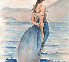 """Evening Light"" Water Colour Painting. by John D Moulton"