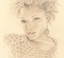 """Gloria"" Colour Pencil Artwork by John D Moulton"