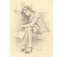"""It's Goodbye"" Colour Pencil Artwork Photographic Print"