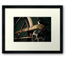 Spoke & Sprocket Framed Print