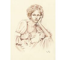 """Thoughtfulness"" Colour Pencil Art Photographic Print"