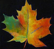 Red Maple Leaf by Michael Creese