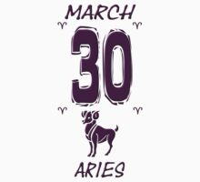 Aries March 30 Birthday 3D Effect by kmercury
