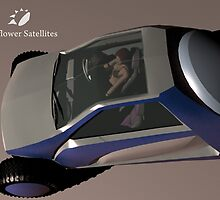 concept of satellite-dish VSAT offroad vehicle by natoly