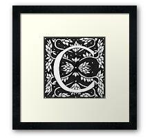 "Art Nouveau ""C"" (W Morris Inspired) (Ebay Listed) Framed Print"