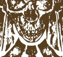 Skull with Feathers Sticker
