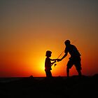 FATHER & SON * SILHOUETTE* by Khaled EL Tangeer
