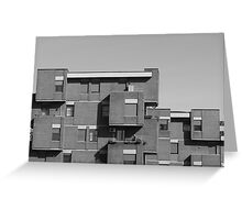 geometric architecture with blocks  Greeting Card