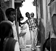 Laughter, Slums in Bangalore, India by connieelaine