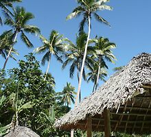 Palm Trees and Thatched Rooves - Mango Bay by bec87
