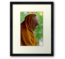 a smile. kungri, pin valley, northern india Framed Print