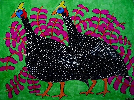 Guineas Green by carol selchert